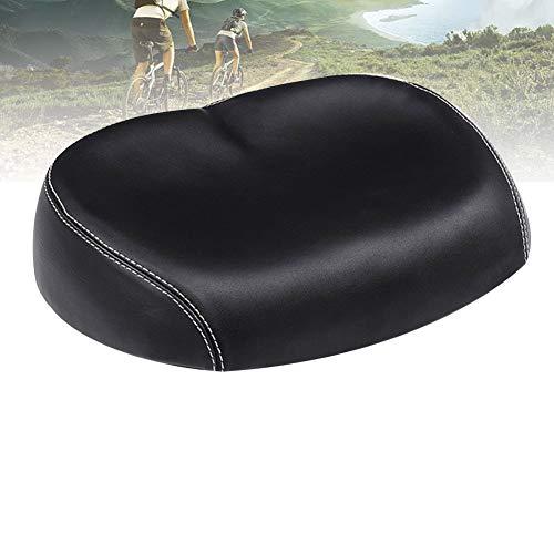 Opaltool - Sella da bicicletta senza naso, comoda ampia e ampia sella per bicicletta con cuscino imbottito in memory foam per la maggior parte delle biciclette