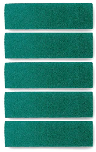 Scrub Pads For Microfiber Mops – Replacement Scouring and Scrubbing Mop Head Refills – Reusable Washable Velcro Mop Attachment Fits Bona, Norwex, Rubbermaid, Libman, LINKYO etc (18″ Pads – 5 Pack)