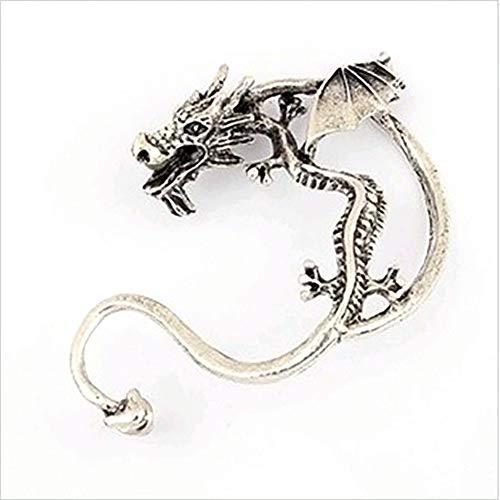 Retro vintage plata bronce Punk gótico tentación metal dragón mordida oreja puño clip Wrap pendientes encanto brazalete aretes para mujeres y hombres