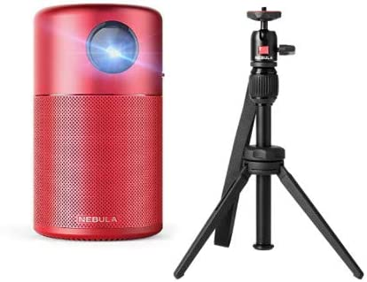 high quality Anker discount Nebula Capsule Smart wholesale Wi-Fi Mini Projector,Red, 100 ANSI Lumen Portable Projector,with Capsule Series Adjustable Tripod Stand outlet online sale