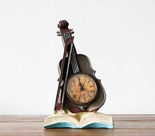 ahjs457 Escultura Estatua decoración hogar violín decoración del hogar Accesorios Adornos 15 * 11 * 27 cm