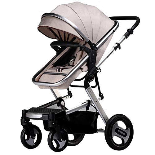 QqHAO El Cochecito de bebé del Alto Paisaje Puede Sentarse el Amortiguador de Choque de Cuatro Ruedas Que dobla el Cochecito de bebé bidireccional del bebé del bebé de BB
