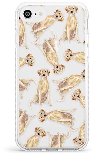Reticolo Giallo Labrador acquerelli Dog Impact Cover per iPhone 6 TPU Protettivo Phone Leggero con Trasparente Animale Domestico Chiaro Amante dei