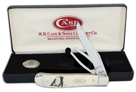 CASE XX WR Pocket Knife Natural Smooth Bone Mini Trapper W/Golf Tool Item #6022 - (6207G SS) - Length Closed: 3 1/2 Inches