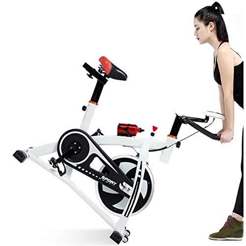 Bicicleta Estática para Interiores Y Manillar Ajustable Y Asiento Bicicleta Estática Ejercicio En El Hogar con Resistencia, Pantalla LCD, Asequibilidad De 150 Libras