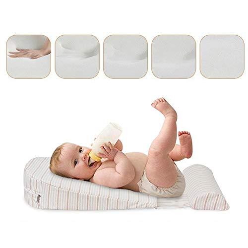 Baby Wedge Foam Pillow, Originale ergonomische Unterstützung 15-Grad-Neigung Anti Reflux und Colic Congestion Kissen Crib Cot Flat Head - Perfekte Geschenkidee für Babys