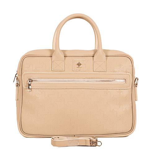 Gio&Mi Aktetas voor dames met laptopvak, modieuze laptoptas voor dames, veganistisch met veel ruimte, voor zakelijke en laptoptassen voor vrouwen