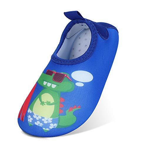 MASOCIO Escarpines Niño Antideslizante Calcetines Zapatos de Agua Verano para Playa Piscina Natacion Talla 25 26 EU Azul