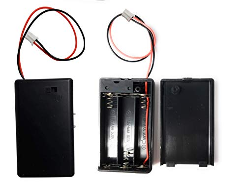 Low Voltage Power Solutions: Battery Holder – 3 AAA Battery Case – Triple AAA Battery Holder for Arduino, Lilypad Circuits, Cosplay, Costumes and Decorations - Set of 2