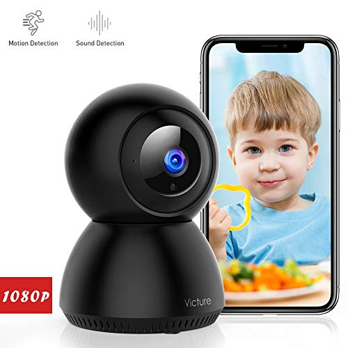 [Stay Strong, USA] Victure 1080P FHD WiFi Camera with Motion Tracking Sound Detection 2.4 G WiFi Security Indoor Camera with 2-Way Audio, Night Vision, Home Camera for Baby/Pet/Elder