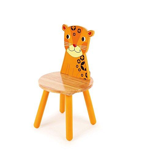 Tidlo Leopard - Silla Infantil (26 cm, Madera), diseño de Leopardo