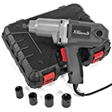 XtremepowerUS Electric Impact Wrench 1/2' inch Corded Impact Gun with (4) Sockets 7.5 Amp 300 N.m Max Torque and Carrying case