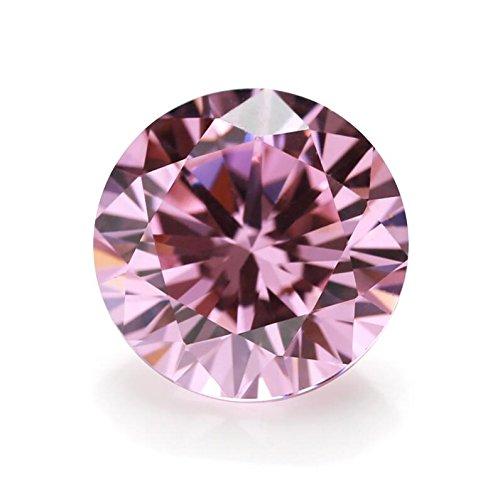 100PCS 6.0mm AAAAA Round Machine Cut Pink Loose CZ Stones Cubic Zirconia (6.0mm 100pcs)