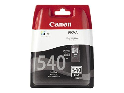 Canon PG-540 Cartucho de tinta original Negro para Impresora de Inyeccion de tinta Pixma TS5150-TS5151-MX375-MX395-MX435-MX455-MX475-MX515-MX525-MX535-MG2150-MG2250-MG3150-MG3250-MG3550-MG3650-MG4150