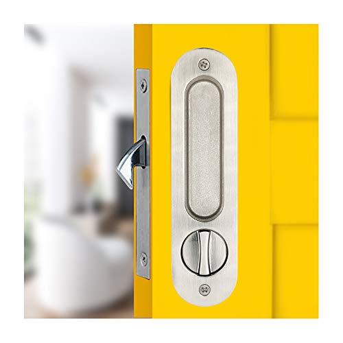 Manija de Cerradura Embutir de Puerta Corrediza Mango Empotrado Invisible Cierre de Cerradura de Puerta de Madera (LWZH)