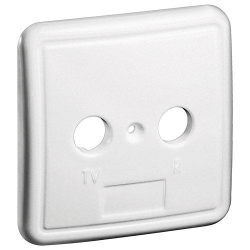 2 Stück erenLine Abdeckplatte [Abdeckung, Blende, Deckel] für Kabel TV- und Multimedia - Antennendosen mit 2 Loch