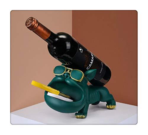 Aiglen Estante de Vino, Estante de Vino Europeo Moderno para Perros y Gatos, Muebles de exhibición para Sala de Estar, decoración de Resina, Soporte para Vino Tinto, estatuilla (Color : C)