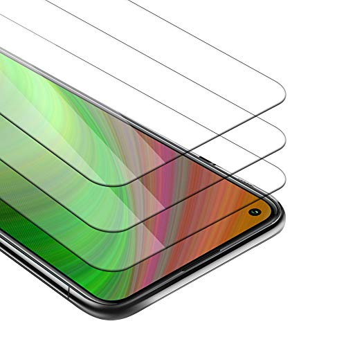 Cadorabo 3X Película Protectora Compatible con OnePlus 8T en Transparencia ELEVADA - Paquete de 3 Vidrio Templado (Tempered) Cristal Antibalas Compatible 3D con Dureza 9H