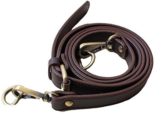Minetom Echtes Leder Schulterriemen Für Taschen Viele Farbe Trageriemen Riemen Braun