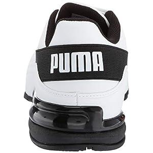 PUMA Men's Viz Runner Sneaker, White Blac, 11