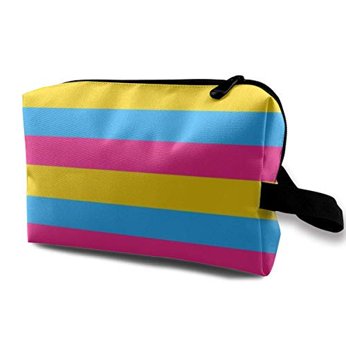 Pansexual Flag SM_972 Cosmetic Bags Cosmetics Make Up Tools Adjustable Dividers Women and Girls Dark Blue