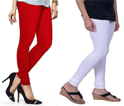 Lux Lyra Women's Churidar Leggings (Red & White, Free Size)...