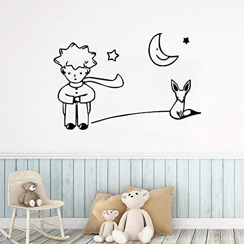 Cartoon Little Prince Umweltschutz Vinyl Aufkleber Wandaufkleber Für Kinderzimmer Jungen Mädchen Zimmer Wandtattoo L 42cm X 64cm