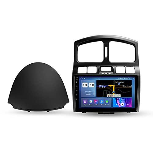 ADMLZQQ Autoradio Bluetooth para Hyundai Santa Fe SM 2000-2012 2 DIN Android Radio De Coche 9'' Pantalla Táctil 5G WiFi Plug and Play Soporte Carautoplay/GPS/Dab+/OBDII,M200s