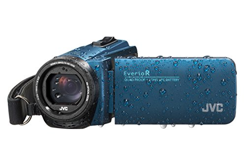 JVC GZ-R495 4GB Memory HD Quad Proof Camcorder Blue