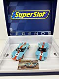 Slot Car Superslot Legends H4041A Compatible 1969 Gulf Twin Pack Edición Limitada