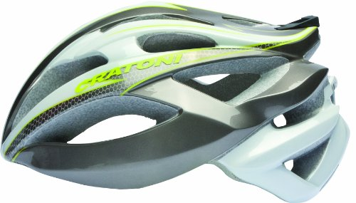 Cratoni Helm C-Bolt, Anthracite-White-Lime Glossy, 53-56 cm, 11013107