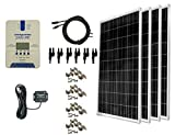 WindyNation 400 Watt (4pcs 100W) Solar Panel Kit with TrakMax MPPT 40A Solar Charge Controller with Cordless Communication + Solar...