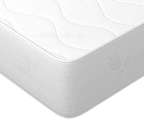 Colchón de aloe vera, 90 x 190 x 16 cm, colchón de espuma fría Wellness, colchón de 7 zonas, dureza H2 y H3, con certificado ÖkoTex.