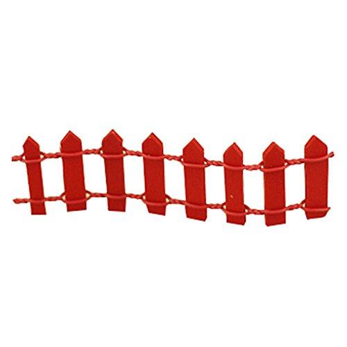 LAMEIDA Pliables de clôture de Jardin Féérique Miniature Ornement Dollhouse Pot de Fleurs Figurine DIY Craft Jardin extérieur Décoration de Maison 3 * 10 cm, Résine, Red, 3 * 10cm
