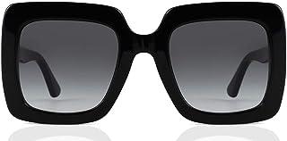 نظارة شمسية مربعة الشكل للنساء من غوتشي، عدسات لون رمادي، ظراز GG0328S-001-53