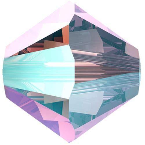 48pcs Light Amethyst Shimmer 2x 212shim2 Xilion Bicono in Vetro Cristalli Viola 5328 Perlina Sfaccettata Strass 3mm