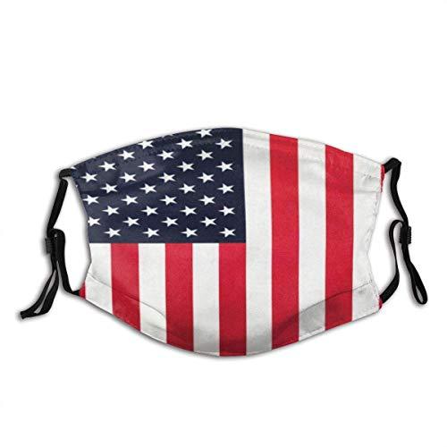 Amerikanische Flagge USA Stars & Stripes Unisex waschbar und wiederverwendbar Baumwolle warmer Gesichtsschutz für Outdoor