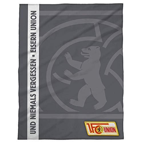 1. FC UNION Berlin Fleecedecke, Decke Logo