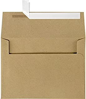 LUXPaper A4 Invitation Envelopes for 4 x 6 Cards in 70 lb. Grocery Bag, Printable Envelopes for Invitations, 50 Pack, Envelope Size 4 1/4 x 6 1/4 (Brown)