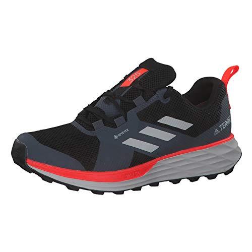 adidas Herren Terrex Two GTX Trailrunning-Schuh, Kern Schwarz Grau Zwei F17 Solar Rot, 44 2/3 EU