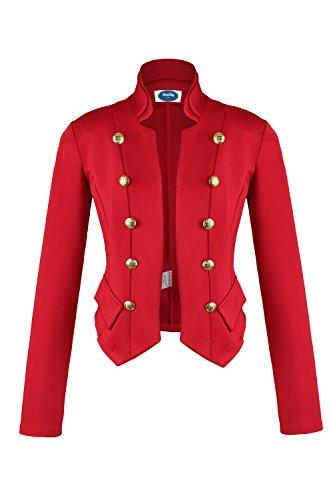 Apparel - Outlet Apparel - Outlet Damen Military Short Blazer rot Gr. M
