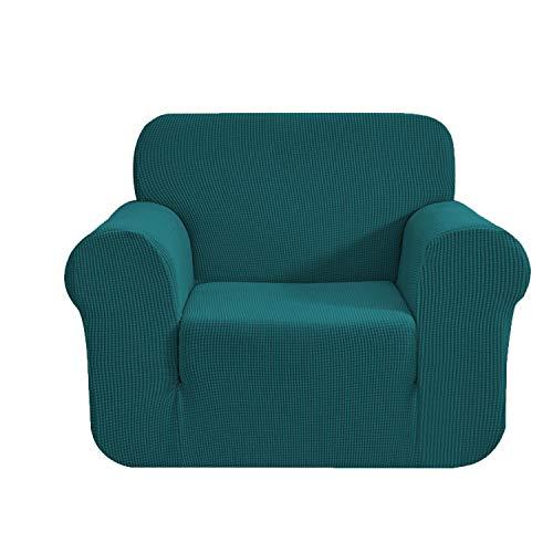 E EBETA Elastisch Sofa Überwürfe Sofabezug, Stretch Sofahusse Sofa Abdeckung Hussen für Sofa, Couch, Sessel 1 Sitzer (Olivgrün, 85-115 cm)