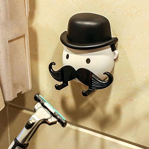 Män skägg manuell rakhyvel hållare hylla sits stativ häng badrum rakhyvel krok hängare sugpropp vägg armerad rakapparat plast förvaringsställ