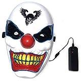 VIDOO Halloween Clown Glow Maschera Festival Fornisce Props Scary El Lighting Maschera per...