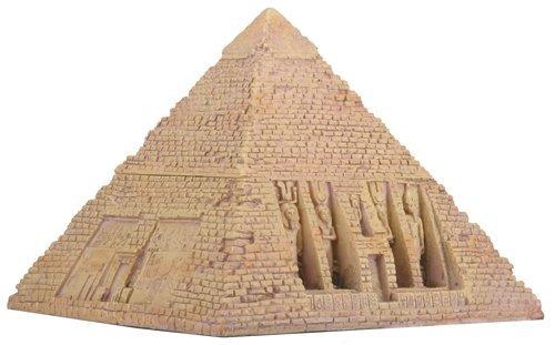 Caja de pirámide de piedra arenisca egipcia coleccionable contenedor de decoración