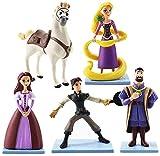LPJPCR 5 unids/Lote Princesa Rapunzel Figura enredado Juguete Flynn Jinete Caballo Maximus Rey Frederic Pascal Magic Magic Model Dolls 11cm