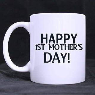 Tasse à café Tasse à café en céramique blanche de 11 onces Fête des mères Nouvelles mères La mère sera présente Énonciatio...