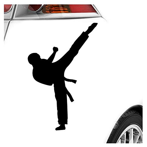 Karate Kampfsport Kämpfer Aufkleber Sticker 25 Farben Neon Matt