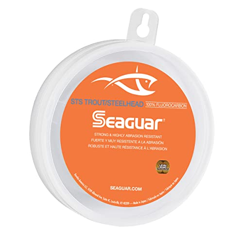 Seaguar STS Trout/Steelhead 100% Fluorocarbon Leader 100yd 8lb, Clear