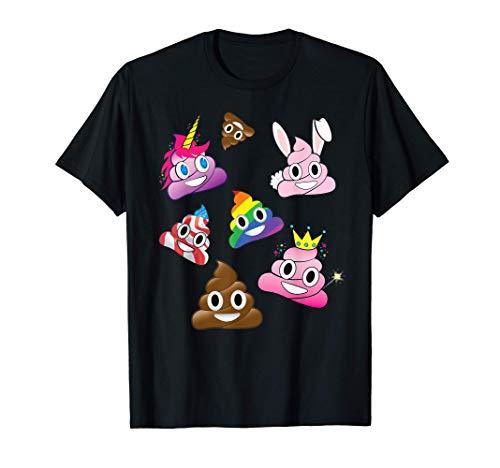 Cacca emoji sciocco divertente unicorno coniglietto Maglietta